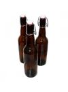 Бутылка 0,33 л с бугелем темные